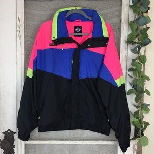 Vintage 90's Columbia WIZBANG Neon jacket Men's L